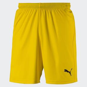 Puma LIGA Shorts Core – Cyber-Yellow/Black