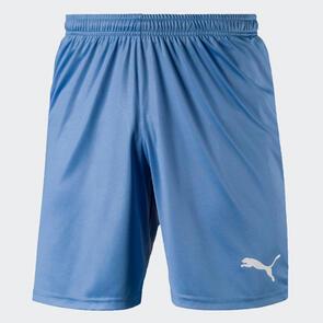 Puma LIGA Shorts Core – Silver-Lake-Blue/White