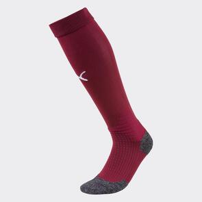 Puma LIGA Socks – Cordovan/White