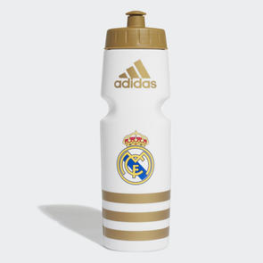 adidas Real Madrid Drink Bottle – White/Gold