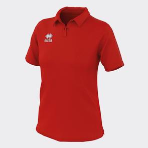 Erreà Women's Shedir Polo – Red