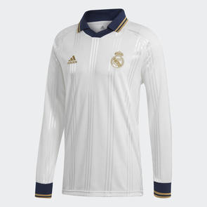 adidas Real Madrid Icons Long Sleeve Retro Jersey