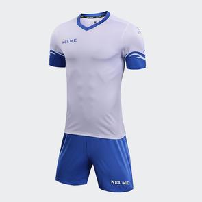 Kelme Dominar Jersey & Short Set – White/Royal Blue