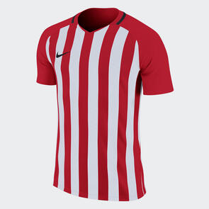 Nike Junior Striped Division III Jersey – University-Red/White