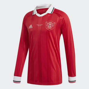 adidas Manchester United Icons Long Sleeve Retro Jersey