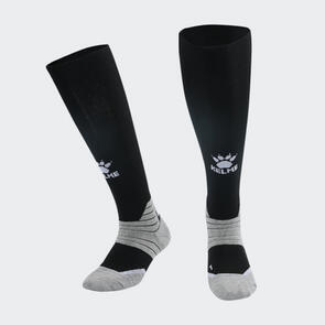 Kelme Golpear Long Calf Football Sock – Black/White