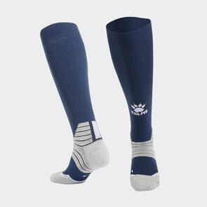 Kelme Golpear Long Calf Football Sock – Navy/White