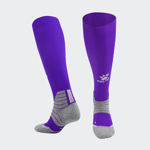 Kelme Golpear Long Calf Football Sock – Purple/White