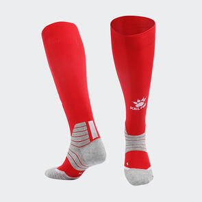 Kelme Golpear Long Calf Football Sock – Red/White