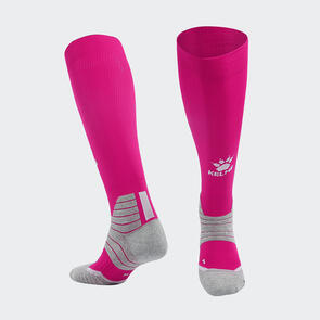 Kelme Golpear Long Calf Football Sock – Rose/White