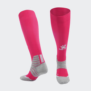 Kelme Golpear Long Calf Football Sock – Pink/White