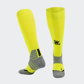 Kelme Golpear Long Calf Football Sock – Yellow/Black