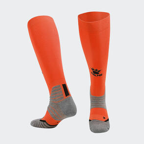Kelme Golpear Long Calf Football Sock – Orange/Black