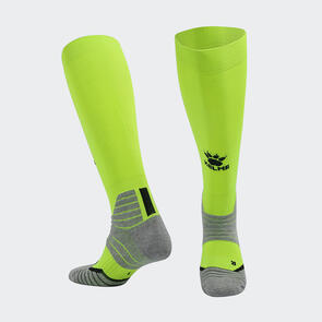 Kelme Golpear Long Calf Football Sock – Neon-Green/Black