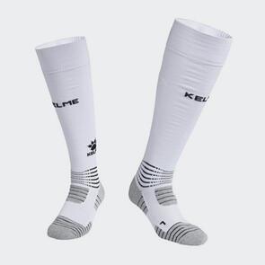 Kelme Patada Long Calf Football Sock – White/Black