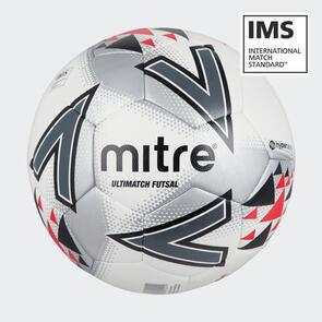 Mitre Ultimatch Futsal Match Ball – White/Black/Red