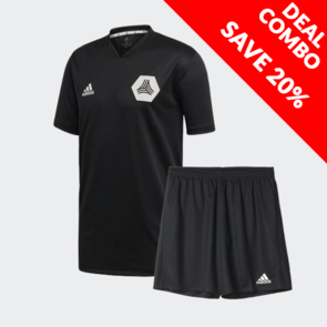 adidas Tango Training Jersey And Parma Short Set Black/Black