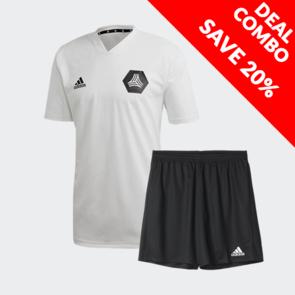 adidas Tango Training Jersey And Parma Short Set White/Black