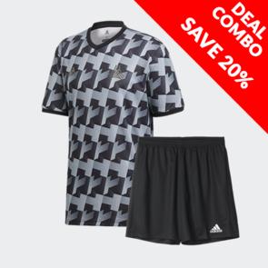 adidas Tan AOP Jersey And Parma Short Set
