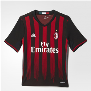 adidas Junior 2016-17 AC Milan Home Shirt