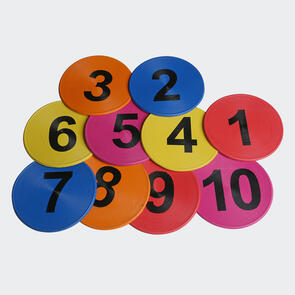 Kiwi FX Numbered Flat Disc Markers [10 Pack]