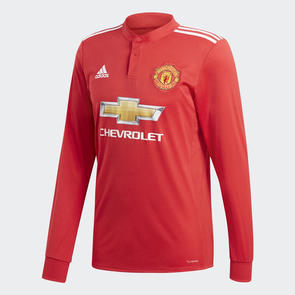adidas 2017-18 Manchester United Home Long Sleeve Shirt
