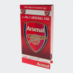 Arsenal No. 1 Fan Birthday Card