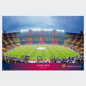 Barcelona Stadium Poster