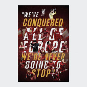 Liverpool Liverpool Poster – Champions of Europe