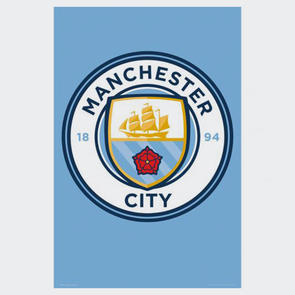 Manchester City Club Crest Poster