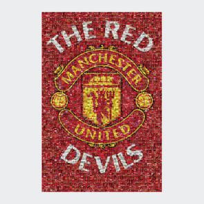 Manchester United Club Crest – Mosaic Poster