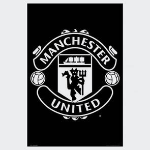 Manchester United Club Crest Poster – Black