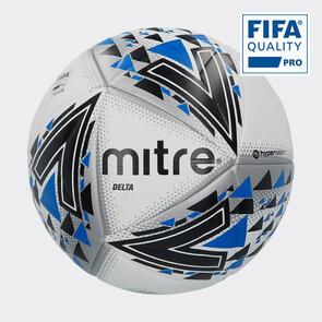 Mitre Delta Pro Match Ball – White/Black/Blue