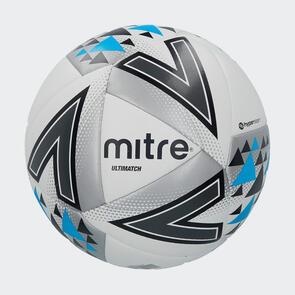 Mitre Ultimatch Hyperseam Match Ball – White/Black/Pink