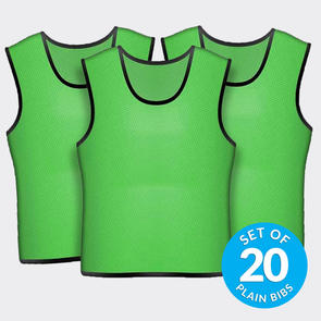 TSS 20 Plain Training Bibs Set – Green