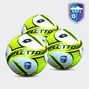 Lotto IPER VTB NRFL Match Ball Pack – Black/Yellow