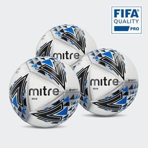 Mitre Delta Pro Match Ball Pack – White/Black/Blue