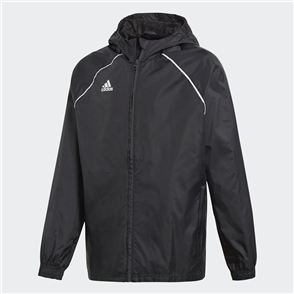 adidas Junior Core 18 Rain Jacket – Black/White