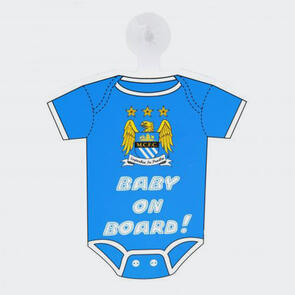 Manchester City Baby On Board Sign