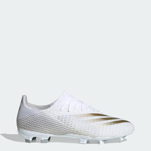 adidas X Ghosted .3 FG – White/Gold/Silver