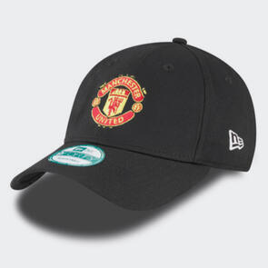 Manchester United New Era Pink Engineered 9Forty Baseball Cap – Black