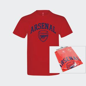 Arsenal Crest T-shirt Adult