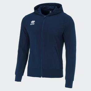 Erreà Philip Full-Zip Hooded Sweat – Navy