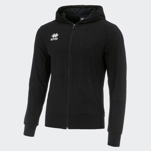 Erreà Philip Full-Zip Hooded Sweat – Black