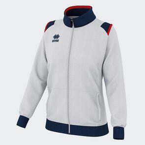 Erreà Women's Loren Full-Zip Jacket – White/Navy/Red