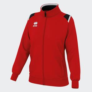 Erreà Women's Loren Full-Zip Jacket – Red/Black/White