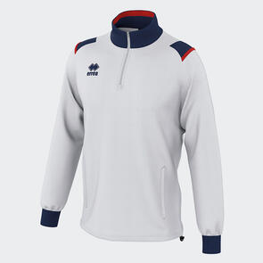 Erreà Lars 1/4 Zip Jacket – White/Navy/Red