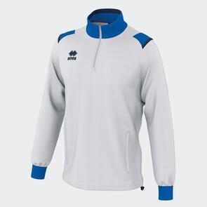 Erreà Lars 1/4 Zip Jacket – White/Blue/Navy
