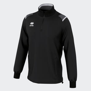 Erreà Lars 1/4 Zip Jacket – Black/Anthracite/White