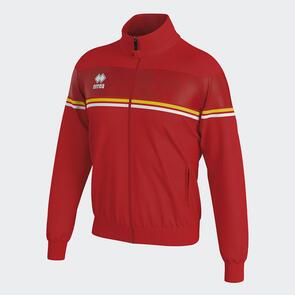 Erreà Donovan Full-Zip Jacket – Red/Yellow/White